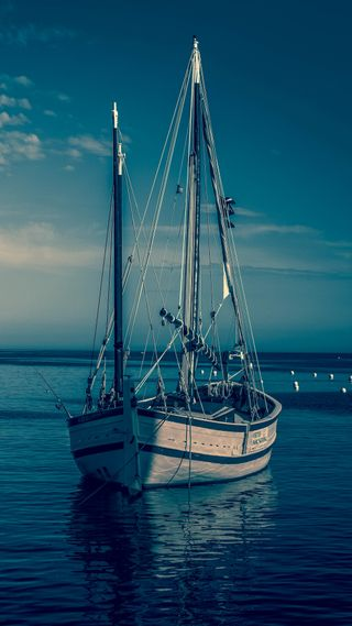 Обои на телефон солнечный свет, облака, море, лодки, корабли