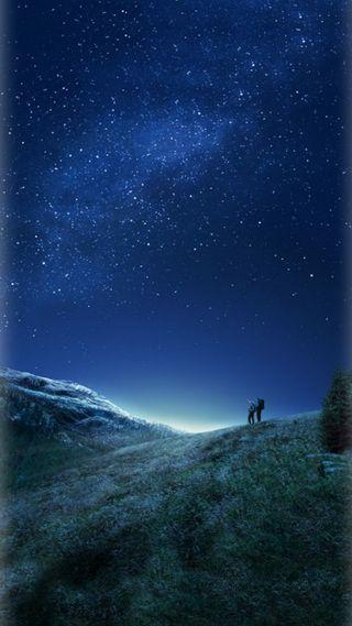 Обои на телефон стандартные, грани, синие, пустыня, песок, ночь, звезды, галактика, s8plus, s8, galaxy s8