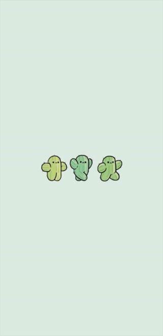 Обои на телефон кактус, банда, каваи, cactus gang