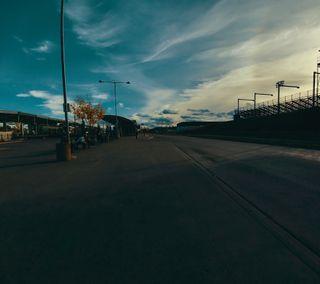 Обои на телефон фотография, станция, закат, автобус, bus station