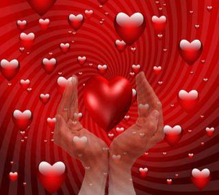 Обои на телефон сердца, любовь, romantico, corazon 006