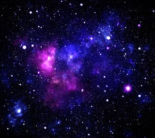 Обои на телефон galaxy, галактика, космос, фиолетовые, звезды