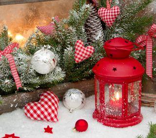 Обои на телефон фонарь, снег, рождество, зима