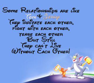 Обои на телефон том, отношения, мультфильмы, милые, друзья, высказывания, foes