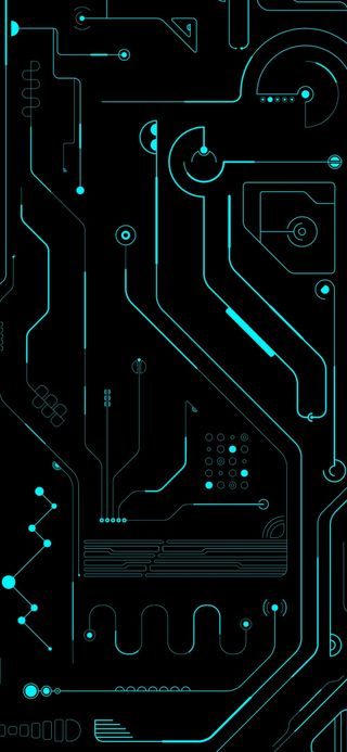 Обои на телефон микросхема, черные, трон, схемы, синие, зеленые, доска, амолед, абстрактные, blue green circuit, amoled