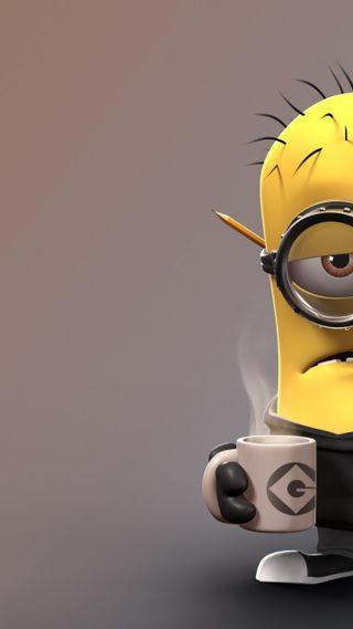 Обои на телефон я, миньоны, банан