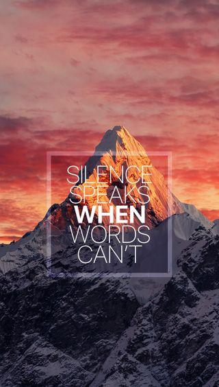 Обои на телефон тишина, слова, правда, оно, жизнь, думать, горы, абстрактные, think about it, reflect