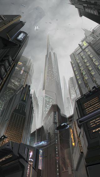 Обои на телефон высокий, небо, здания, centers