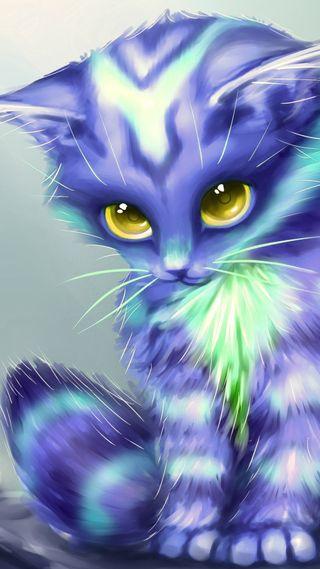 Обои на телефон кошки, синие, котята