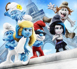 Обои на телефон смурфики, анимация, новый, мультфильмы, smurfs new, smurfs 2, smurf, 2013