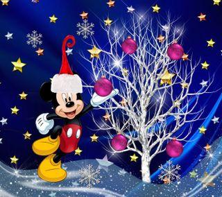 Обои на телефон счастливое, рождество, мультики, микки, маус, дисней, 1440x1280px, disney