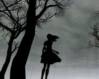 Обои на телефон тень, темные, одиночество, алиса, grayscale