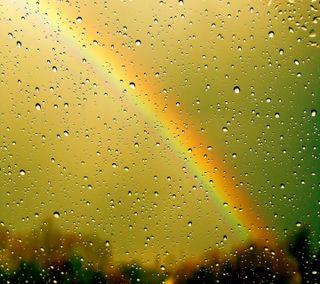 Обои на телефон окно, радуга, капли, вода, абстрактные, rainbow drops, drops rainbow window, abstract water
