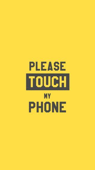 Обои на телефон пятница, трогать, телефон, счастливые, мой, минимализм, желтые, высказывания, touch my phone, sharing, happy, caring