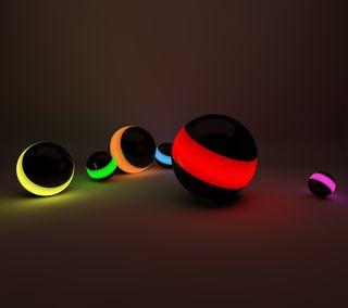 Обои на телефон шары, коричневые, цветные, темные, светящиеся, огни, неоновые, мяч, красота, orbs, beauty of lights