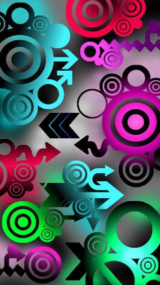 Обои на телефон фиолетовые, стрела, технология, синие, розовые, красые, зеленые, techniczna