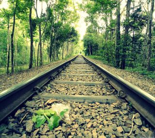 Обои на телефон пейзаж, любовь, классные, железная дорога, railway landscape, love, 2016