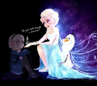 Обои на телефон эльза, принцесса, холодное, снеговик, олаф, дисней, disney