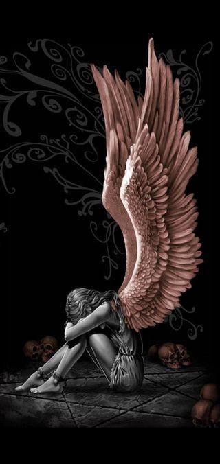 Обои на телефон крылья, розовые, любовь, болит, pink wings, love