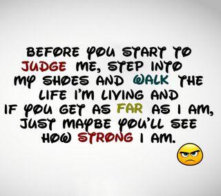 Обои на телефон прогулка, я, цитата, судить, сильный, приятные, поговорка, новый, знаки, жизнь, living, judge me