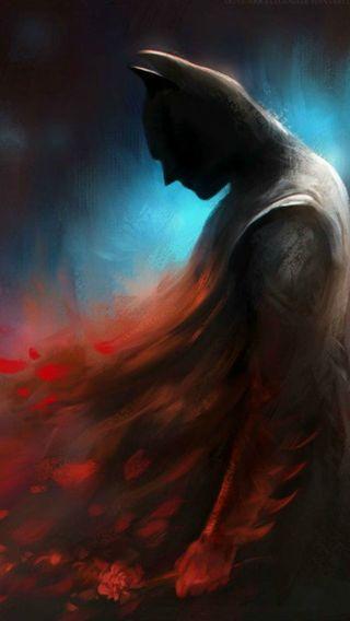 Обои на телефон рыцарь, цветы, фантазия, темные, справедливость, синие, красые, грустные, бэтмен, арт, art