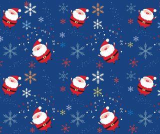 Обои на телефон каникулы, фон, снежинки, синие, санта, рождество, santa background