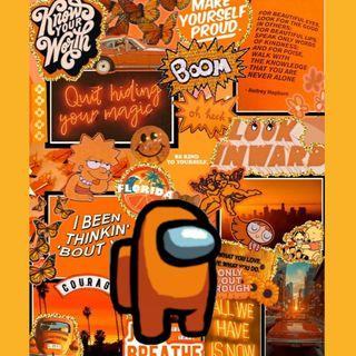 Обои на телефон оранжевые, амонг, orange among us