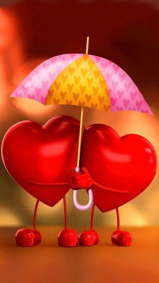 Обои на телефон сердце, любовь, амбрелла, love
