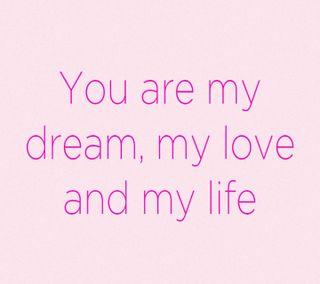 Обои на телефон мечта, цитата, ты, любовь, жизнь, love, i loove you, dream love life