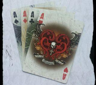 Обои на телефон туз, покер, крутые, карты, галактика, wallpaper hd, galaxy s4, 4 of a kind aces