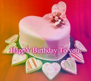 Обои на телефон торт, ты, счастливые, сердце, любовь, жизнь, день рождения, love, birthday cake