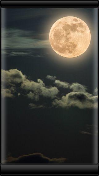 Обои на телефон тьма, стиль, грани, природа, облака, ночь, луна, красота, edge style