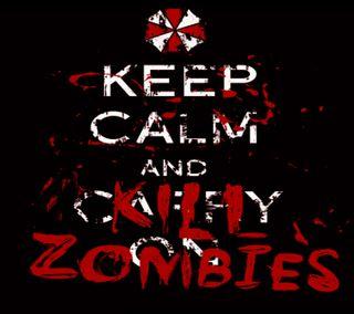 Обои на телефон спокойствие, зомби, keep calm