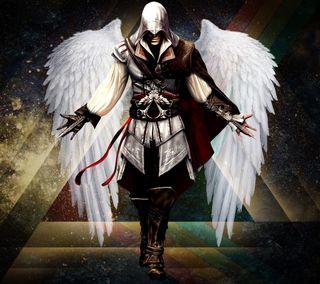 Обои на телефон видео, крылья, крид, киллер, игры, ассасин, ангел
