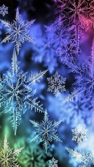 Обои на телефон снежинки, снег, зима