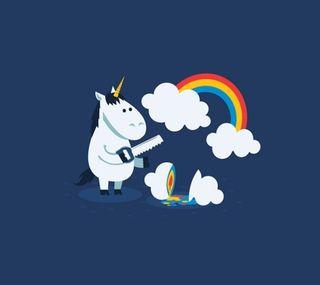 Обои на телефон радуга, единорог, облака, unicorn2