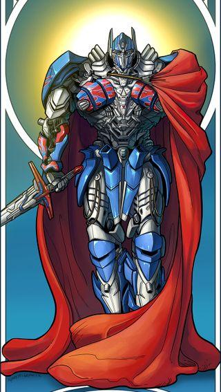 Обои на телефон трансформеры, рыцарь, прайм, оптимус, knight optimus prime