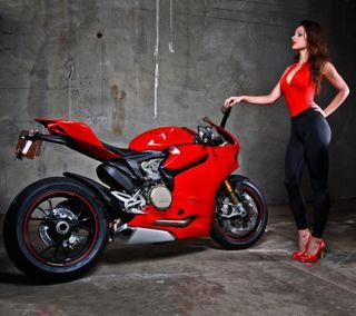 Обои на телефон мотоциклы, черные, красые, красота, девушки, байк, redhead