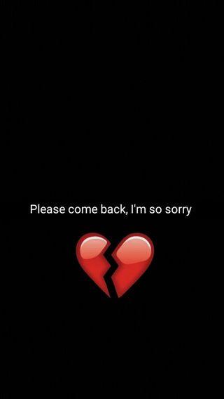 Обои на телефон черные, тыква, тема, сердце, пожалуйста, красые, девушки, sorry, so, iam, come back