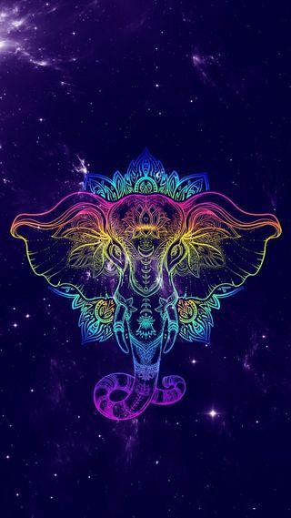 Обои на телефон фотографии, слон, приятные, прекрасные, новый, милые, красочные, арт, абстрактные, colorful elephant, art