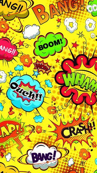 Обои на телефон пузыри, комиксы, забавные, бум, абстрактные, speech, ouch