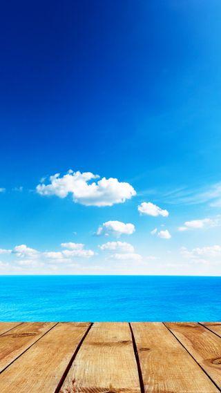 Обои на телефон море, небо, красота