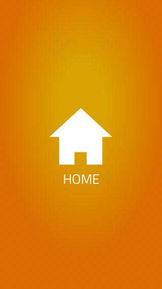 Обои на телефон икона, плоские, оранжевые, место, дом, dashboard
