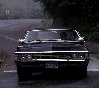 Обои на телефон сверхъестественное, вождение, winchester, supernatural driving, impala, cw