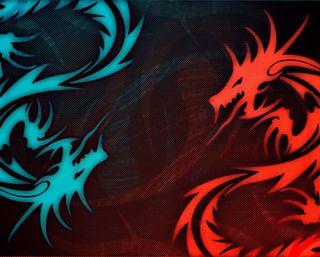Обои на телефон цифровое, дракон, арт, dragon, art