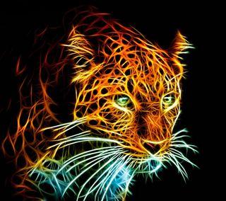 Обои на телефон леопард, кошки, животные, абстрактные, 3д, 3d