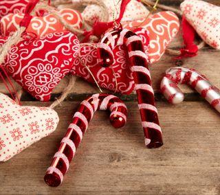 Обои на телефон деревянные, фон, украшение, сердце, рождество, любовь, красые, конфеты, xmas love, love