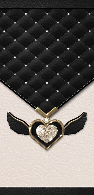 Обои на телефон крылья, черные, симпатичные, сердце, прекрасные, любовь, девчачие, бриллиант, padded, love, diamondandwings, beige