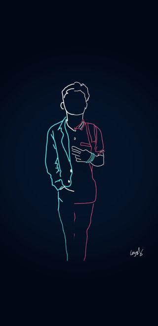Обои на телефон светящиеся, черные, рисунки, логотипы, крутые