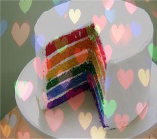 Обои на телефон торт, радуга, еда, rainbow cake, 1440x1280